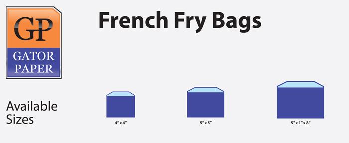 Custom Printed French Fry Bags