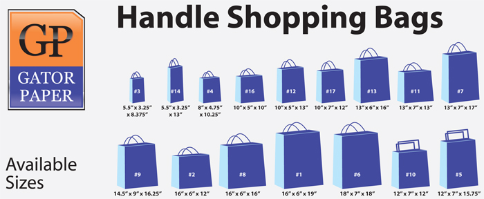 Custom Printed Handle Shopping Bags