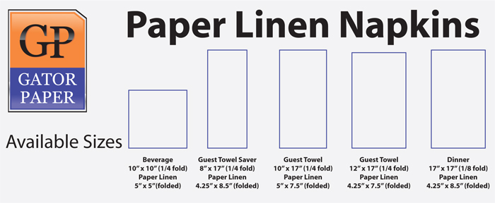 Custom Printed Paper Linen Napkins