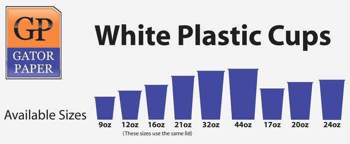 Custom Printed White Plastic Cups