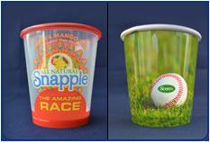 Clear & White VS Plastic Cups