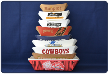 Custom paper food trays