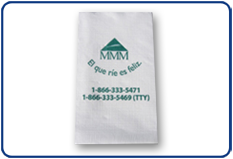 Dinner Napkin, Facial Coin Edge, 1/8 fold