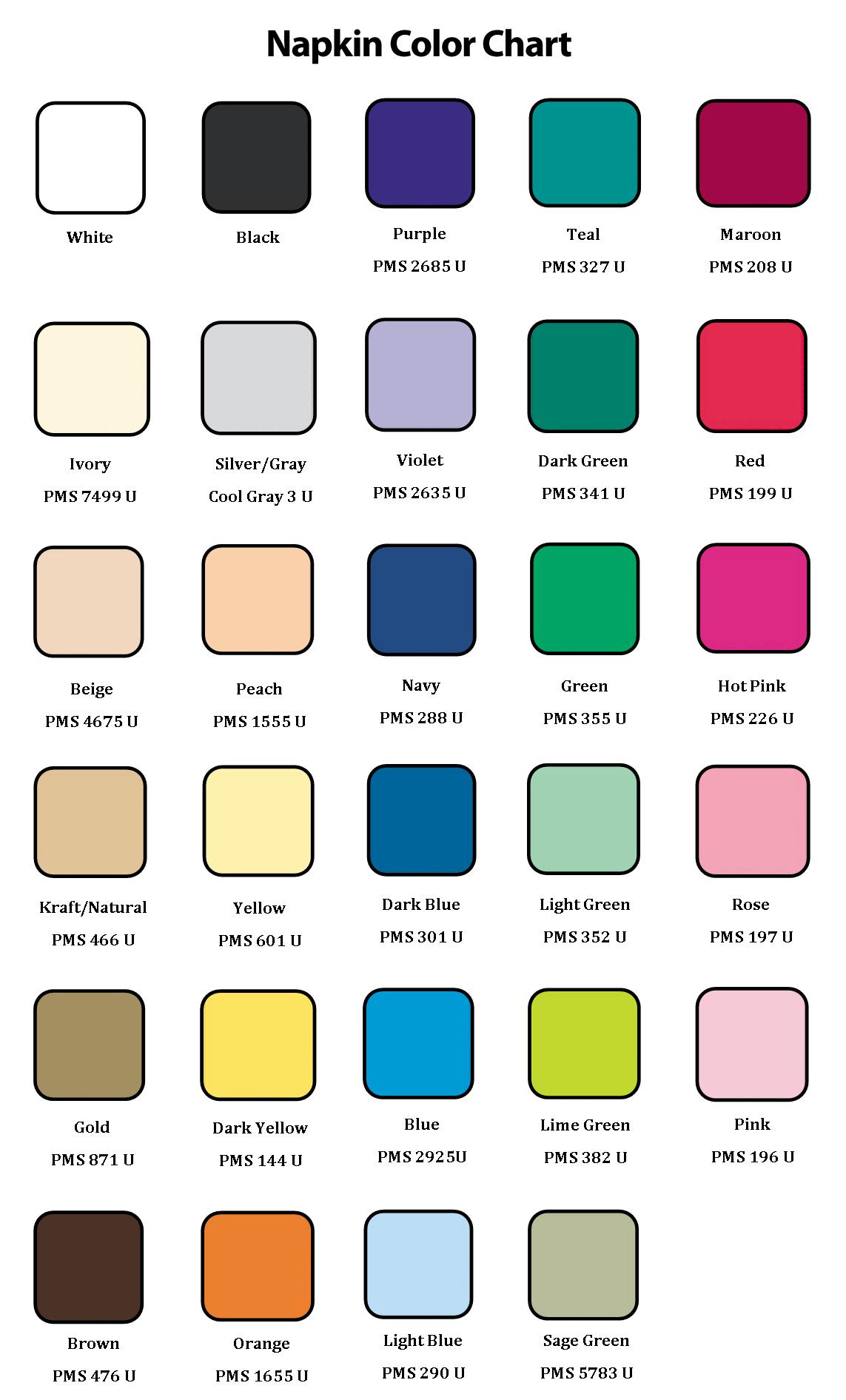 Custom printed food packaging napkins gator paper color chart nvjuhfo Gallery