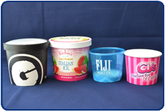 Paper & Plastic Containers with Lids