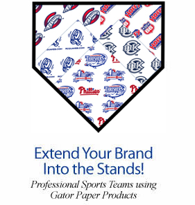 Professional Sports Teams using  Gator Paper products
