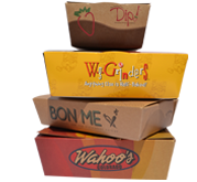 Custom Printed Food Service To-Go Boxes