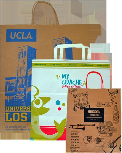 Custom Printed Handle Shopping Bags