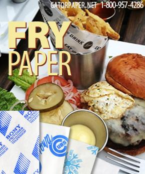 Custom Printed Fry Paper