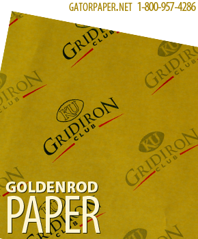 Custom Printed Goldenrod Paper