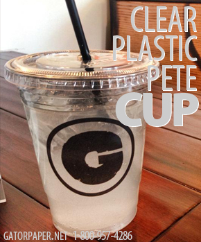 Custom Printed Clear Plastic PETE Cups