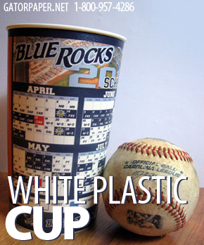Custom Printed White Plastic Cups